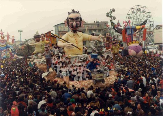 Il legislatore di Giovanni e Stefano Strambi - Carri piccoli - Carnevale di Viareggio 1990