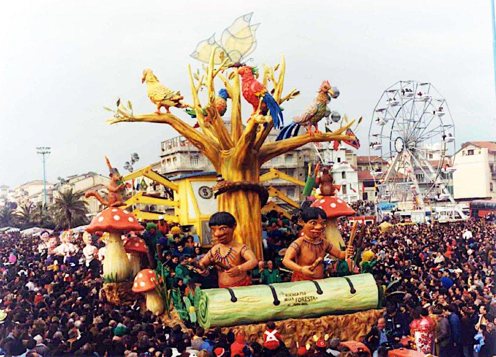 Il richiamo della foresta di Mario Neri - Carri piccoli - Carnevale di Viareggio 1990