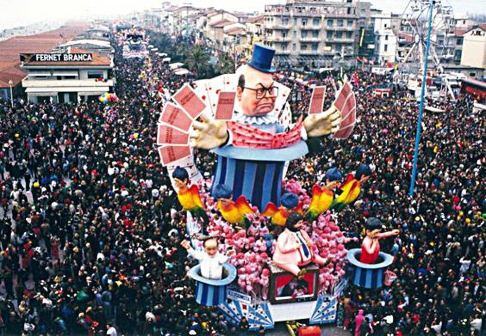 L'illusionista di Silvano Avanzini - Carri grandi - Carnevale di Viareggio 1990