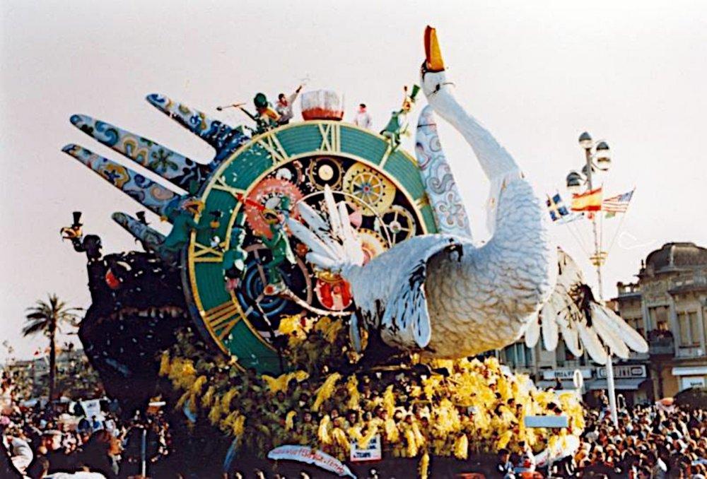 Non si può fermare il tempo di Arnaldo Galli - Carri grandi - Carnevale di Viareggio 1990