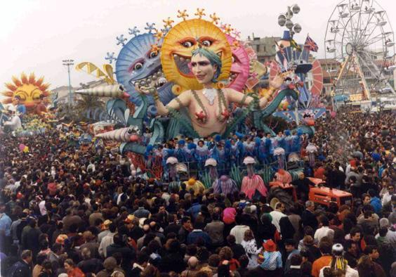 Vieni, vedi, torni di Franco Malfatti - Carri piccoli - Carnevale di Viareggio 1990