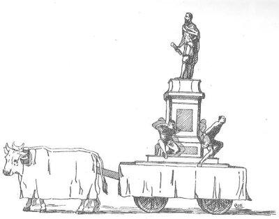 bozzetto I quattro mori di Regia Marina Dist - Carri piccoli - Carnevale di Viareggio 1883
