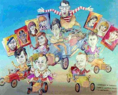 bozzetto La monarchia che dura di Ademaro Musetti - Carri grandi - Carnevale di Viareggio 1969