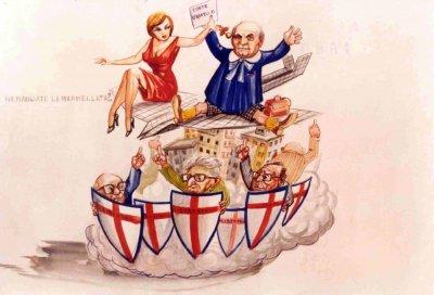 bozzetto Chi ha mangiato la marmellata di Paolo Lazzari - Carri piccoli - Carnevale di Viareggio 1980