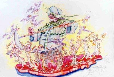 bozzetto Il mietitore di Giulio Palmerini (progetto di Nilo Lenci) - Carri grandi - Carnevale di Viareggio 1985