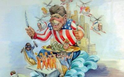 bozzetto Il sogno americano di Silvano Avanzini - Carri grandi - Carnevale di Viareggio 1987