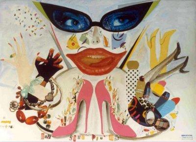 bozzetto Non sono più mia di Gionata Francesconi - Carri piccoli - Carnevale di Viareggio 1990